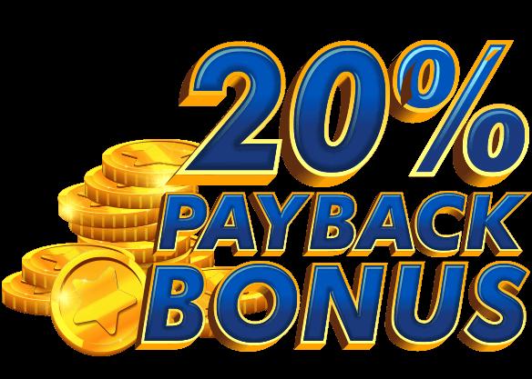 20% Bitcoin Payback Bonus!